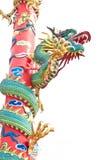 Estatua del dragón en el fondo blanco Imágenes de archivo libres de regalías