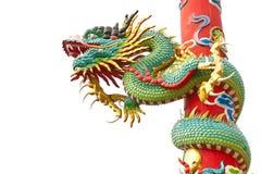 Estatua del dragón en el fondo blanco Fotos de archivo