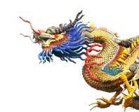 Estatua del dragón en el fondo blanco Imagenes de archivo