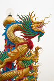 Estatua del dragón en pilar Imagen de archivo