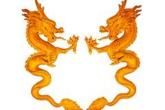 Estatua del dragón en techo Imagenes de archivo