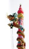 Estatua del dragón por tono blanco y negro Imagen de archivo libre de regalías