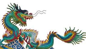 Estatua del dragón sobre el fondo blanco Fotos de archivo libres de regalías