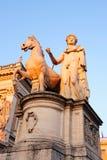 Estatua del echador y de Pollux Imagen de archivo