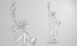 Estatua del ejemplo de la libertad ilustración del vector