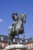 Estatua del equestrian de Philip III Foto de archivo libre de regalías
