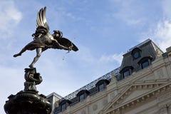 Estatua del eros en el circo de Piccadilly Foto de archivo