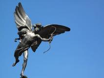 Estatua del eros en el circo Londres de Piccadilly Fotos de archivo libres de regalías