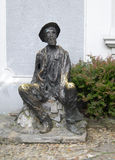Estatua del escritor servio famoso del pintor del poeta de Dura Jaksic en bohe Imágenes de archivo libres de regalías