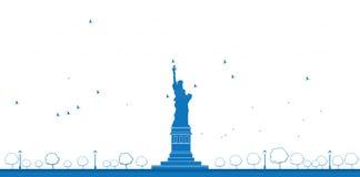 Estatua del esquema de Liberty New York libre illustration