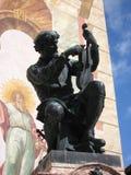 Estatua del fabricante del violín en Mittenwald Alemania Fotografía de archivo libre de regalías