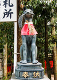 Estatua del Fox en la capilla 3 de Fushimi-Inari Foto de archivo