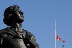 Estatua del galahad del sir Imagen de archivo libre de regalías