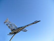 Estatua del ganso de Canadá del cromo Fotografía de archivo libre de regalías