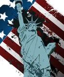 Estatua del Grunge de la libertad Foto de archivo libre de regalías