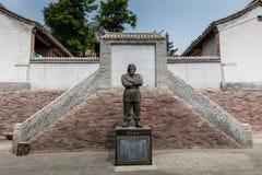 Estatua del héroe revolucionario Fotos de archivo