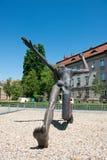 Estatua del híbrido nazi y soviético del oficial imagen de archivo libre de regalías