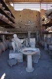 Estatua del hombre de Pompeya Imágenes de archivo libres de regalías