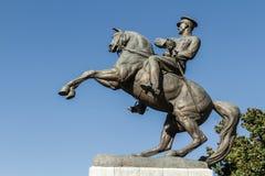 Estatua del honor dedicada al aterrizaje de Ataturk en Samsun Foto de archivo libre de regalías