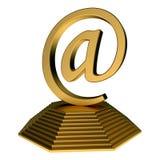 Estatua del icono del correo electrónico Imagen de archivo libre de regalías