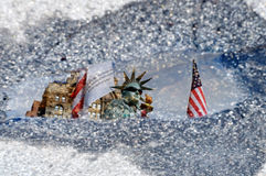 Estatua del imitador de la libertad en Manhattan nuevo Yo Imagen de archivo