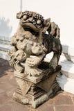 Estatua del león en Wat Pho Temple Foto de archivo libre de regalías