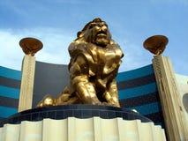 Estatua del león, Mgm Grand Fotografía de archivo
