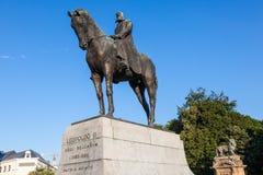 Estatua del Leopold II en Bruselas, Bélgica Imagen de archivo libre de regalías