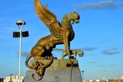 Estatua del Manticoran Imágenes de archivo libres de regalías
