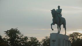 Estatua del mariscal Ferdinand Foch en París, Francia metrajes