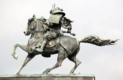 Estatua del masashige de Kusunoki fotografía de archivo