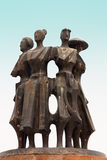 Estatua del metal Fotografía de archivo