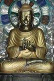 Estatua del metal de Buda Foto de archivo