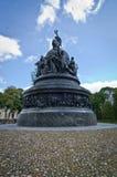 Estatua del milenio de Novgorod Foto de archivo