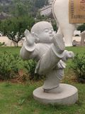 Estatua del monje budista Fotografía de archivo