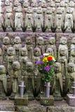 Estatua del monje de Buda de la piedra de la sonrisa del japonés y x28; Jizo Bosatsu& x29; , Japonés Imagen de archivo libre de regalías