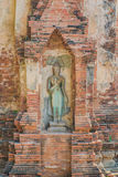 Estatua del monje en la pagoda Imagen de archivo