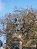Estatua del monumento de guerra Boer negro del reloj, Edimburgo imágenes de archivo libres de regalías