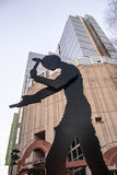 Estatua del museo de arte de Seattle Imagen de archivo libre de regalías