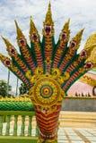 Estatua del Naga en el templo de Tailandia Fotografía de archivo