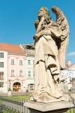 Estatua del ángel en Kosice Imagenes de archivo