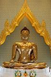 Estatua del oro puro Buddha, Tailandia Fotografía de archivo