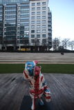 Estatua del oso de Paddington en Londres en el valle de Maida Fotos de archivo libres de regalías