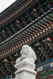 Estatua del palacio de Kyungbok en Seul Fotos de archivo