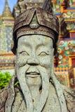 Estatua del patio del templo de Tailandia Bangkok Wat Pho Fotografía de archivo