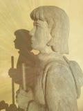 Estatua del peregrino Imagen de archivo libre de regalías