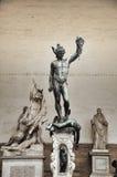 Estatua del perseus con la cabeza a disposición. Florencia. Italia. Imágenes de archivo libres de regalías
