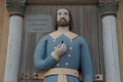 Estatua del pobre hombre Imagenes de archivo