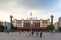 Estatua del presidente Mao en el cuadrado de Tianfu foto de archivo libre de regalías