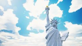 Estatua del primer de la libertad en el fondo del cielo azul libre illustration